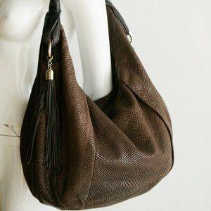 Adrienne Vittadini Leather Snake skin Textured Bag